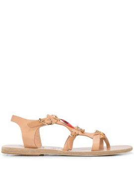 Grace Kelly Charm-embellished Sandals - Ancient Greek Sandal