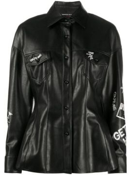 Embroidered Faux-leather Shirt - Ermanno Scervino