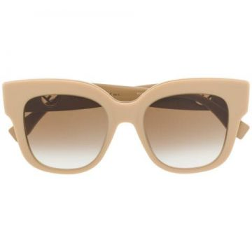 Oversized Logo Plaque Sunglasses - Fendi Eyewear