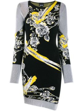Floral Motif Knitted Dress - Just Cavalli