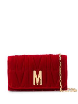M-quilted Clutch Bag - Moschino