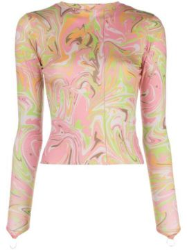 Body Shop Marble Print Top - Maisie Wilen
