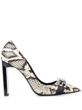 Snakeskin-effect Pointed Pumps - Just Cavalli
