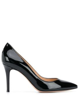 Varnished 85mm Stiletto Pumps - Gianvito Rossi
