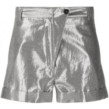 High Rise Metallic Short - Ann Demeulemeester