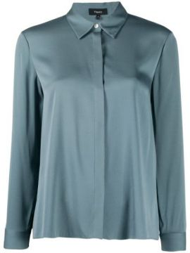 Stretch-silk Fitted Shirt - Theory