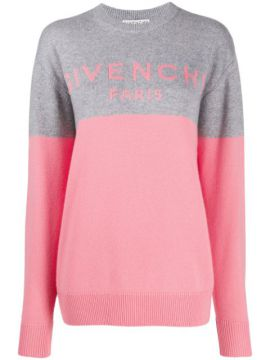Two Tone Cashmere Logo Jumper - Givenchy