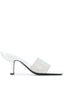 Crystal Embellished Mules - By Far