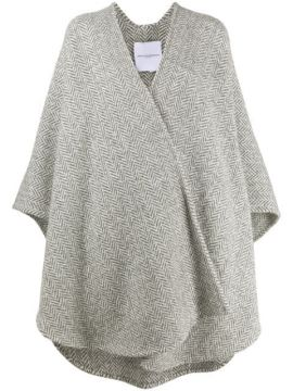 Chevron Knit Cape Coat - Ermanno Scervino