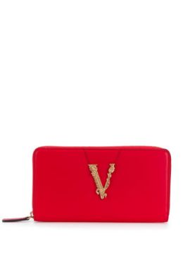 Embossed V Wallet - Versace