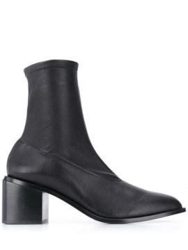 Xia Leather 75mm Boots - Clergerie