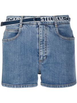 Logo Belt Denim Short - Stella Mccartney
