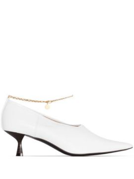 Sapato Com Corrente E Salto 45mm - Stella Mccartney