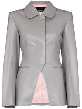 Vegan Leather Fitted Jacket - Anouki