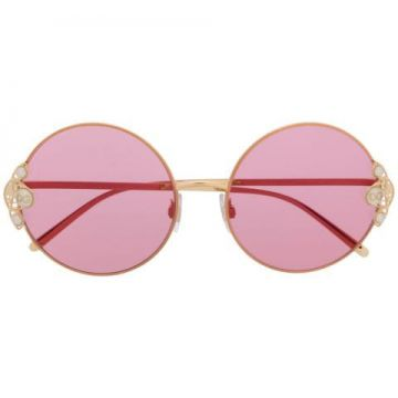 Pearl-embellished Round-frame Sunglasses - Dolce & Gabbana E