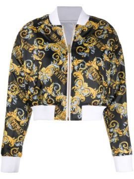 Baroque-print Reversible Bomber Jacket - Versace Jeans Coutu