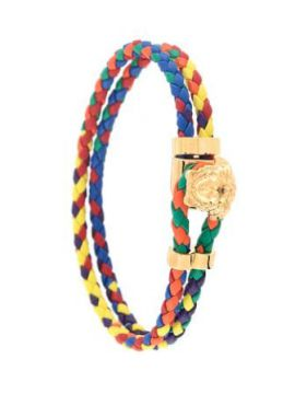 Medusa Braided Leather Bracelet - Versace