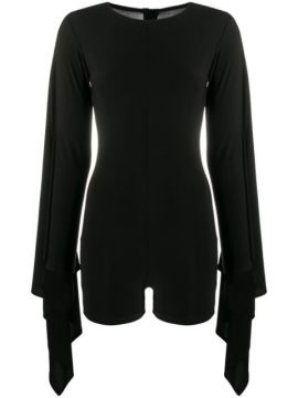 Draped Sleeves Playsuit - Alchemy