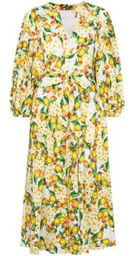Mia Lemon-print Broderie Anglaise Dress - Borgo De Nor