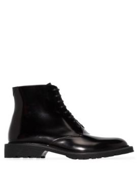 Black Cesna Leather Ankle Boots - Saint Laurent