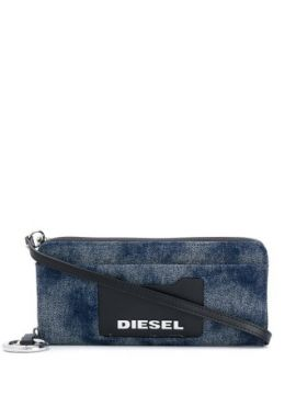 Allium Denim Zip-around Wallet - Diesel
