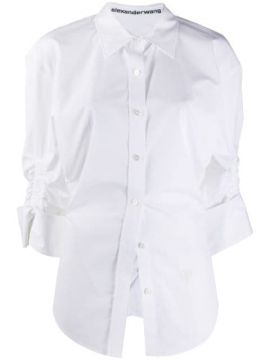 Ruched Sleeve Fitted Shirt - Alexander Wang