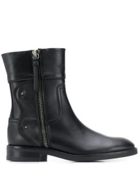 Side Zip Ankle Boots - See By Chloé