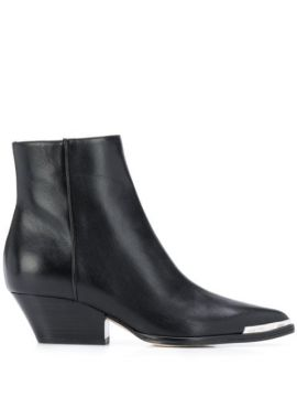 Pointed Contrast-cap Boots - Sergio Rossi