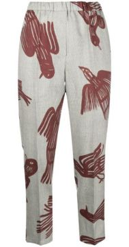 Bird Print Trousers - Christian Wijnants