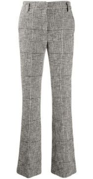 Houndstooth Check Straight Leg Trousers - Dorothee Schumache