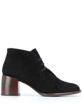 Block Heel Lace-up Boots - Chie Mihara