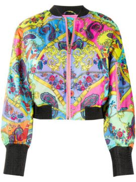 Paisley Print Bomber Jacket - Versace Jeans Couture