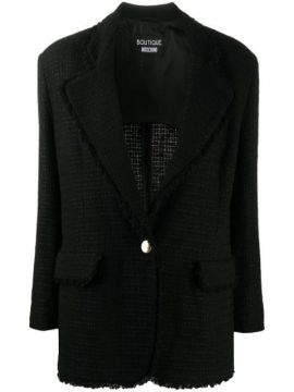 Tweed Single-breasted Blazer - Boutique Moschino
