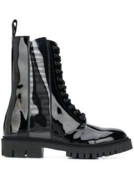 Military-style Ankle Boots - Moschino