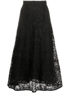 A-line Embroidered Flared Midi Skirt - Michael Michael Kors
