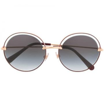Round Sunglasses With Cut-out Detail - Dolce & Gabbana Eyewe