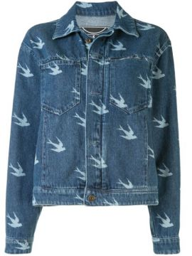 Swallow-print Denim Jacket - Mcq Alexander Mcqueen