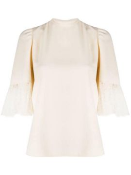 Lace-panelled Crepe Blouse - See By Chloé