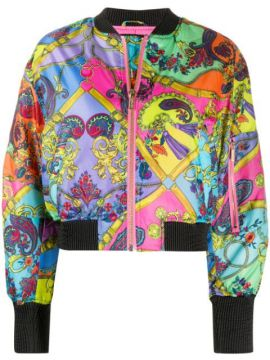 Baroque Print Bomber Jacket - Versace Jeans Couture