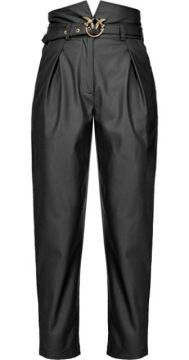 Belted Faux-leather Trousers - Pinko