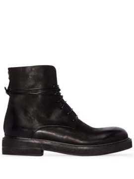 Leather Combat Boots - Marsèll