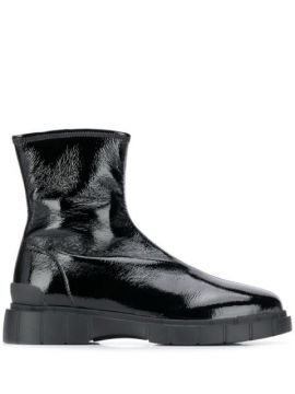 Track Sole Ankle Boots - Car Shoe
