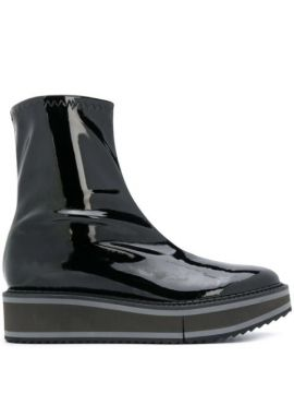 Berra Patent Leather Ankle Boots - Clergerie