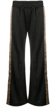 Ff Motif Side-panel Relaxed Trousers - Fendi
