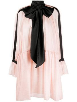 Contrasting Bow Tie Dress - Philosophy Di Lorenzo Serafini