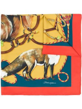 Animal-pattern Scarf - Dolce & Gabbana