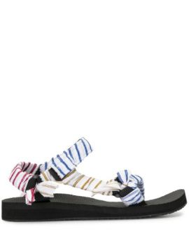 Trekky Striped Strappy Sandals - By Any Other Name