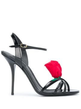 Rose-applique Sandals - Dolce & Gabbana