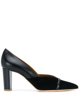 Pointed-toe Panelled Pumps - Malone Souliers