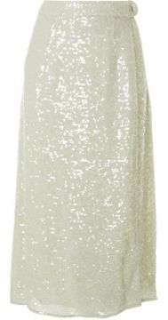 Sequined Wrap Skirt - Lapointe